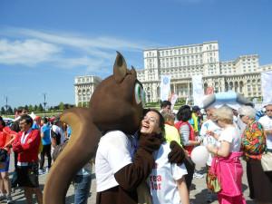 Veverix la Semimaratonul Bucurestiului